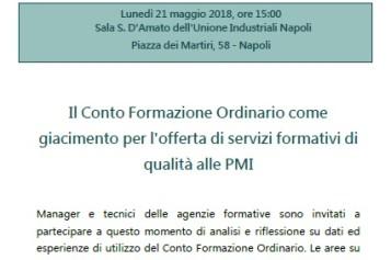 Seminario con il Presidente di Fondimpresa, Bruno Scuotto,  sul Conto Formazione Ordinario