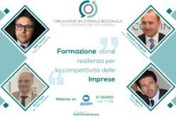 31 marzo 2021, ore 17:00 – Webinar su formazione,resilienza, competitività delle imprese. Il link per partecipare